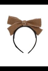 Bandeau Bandeau Mohair Cable Crochet Bow Headband