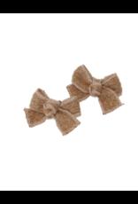 Bandeau Bandeau Mohair Cable Crochet Mini Bow Clip