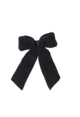 Bandeau Bandeau Sherpa Velvet Large Bow Hair Clips