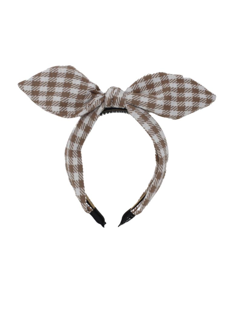 Bandeau Bandeau Winter Gingham Retro Bow Headband