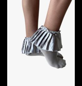 bling Blinq Metallic Pleated Anklets Socks -541