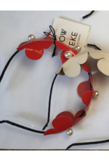 Bow & Teke Bow & Teke  Patent Leather Flower Headband