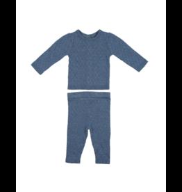 Maniere Noovel Argyle Fine Knit Set