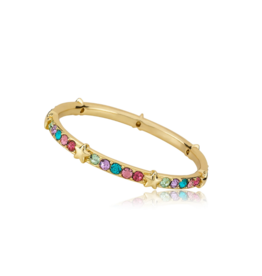 Twin Stars Twin Stars  Stackable Gold Multi Color & Star