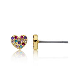 Twin Stars Twin Stars Frosted Heart Earing