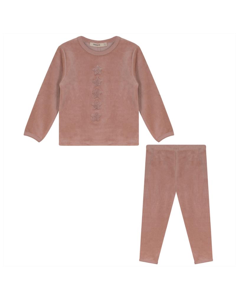 Fragile Fragile Velour Star Pajama