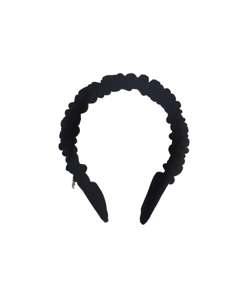 DaCee Dacee Velvet Shimmer Ruffle Headband