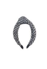 DaCee Dacee Mohair Checkered Knot Headband