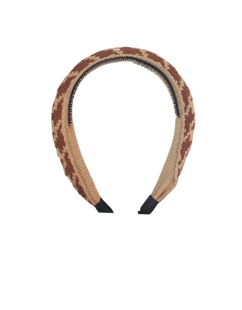 DaCee Dacee Knit Houndstooth  Headband