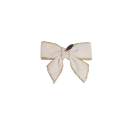 DaCee Dacee Velvet Stitching Bow Small Clip
