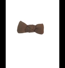 DaCee Dacee Ribbed Knit Puffy Bow Small Clip