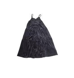 Jb London Jb London Crushed Velvet Tiered Dress