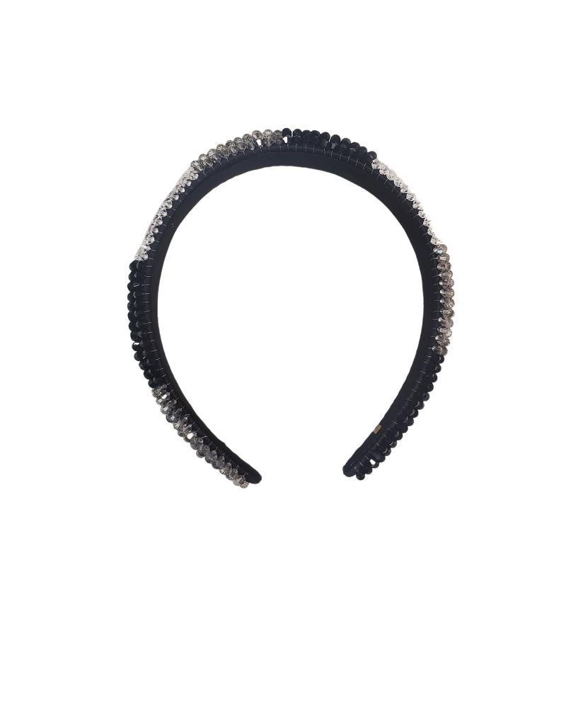Bari Lynn Bari Lynn Crystal Headband Black/White