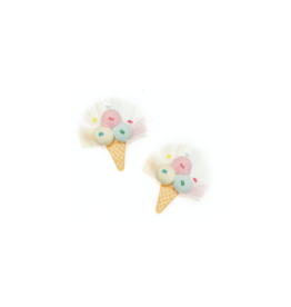 Lilies Roses Lilies Roses Pompom Ice Cream Clips