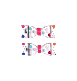 Lilies Roses Lilies Roses Fat Bow Colorful Dots Clips