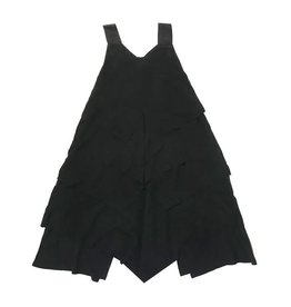 Clo Clo Three Tier Black Ruffle Robe