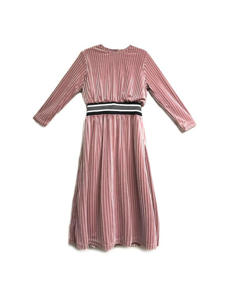 Sofia Rye Sofia Rye Velour Pale Pink Ribbed Robe