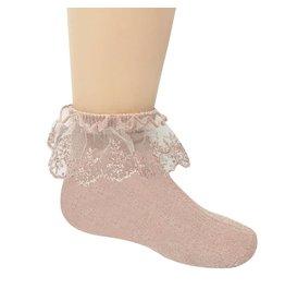 Memoi Memoi Lurex Lace Anklet Sock