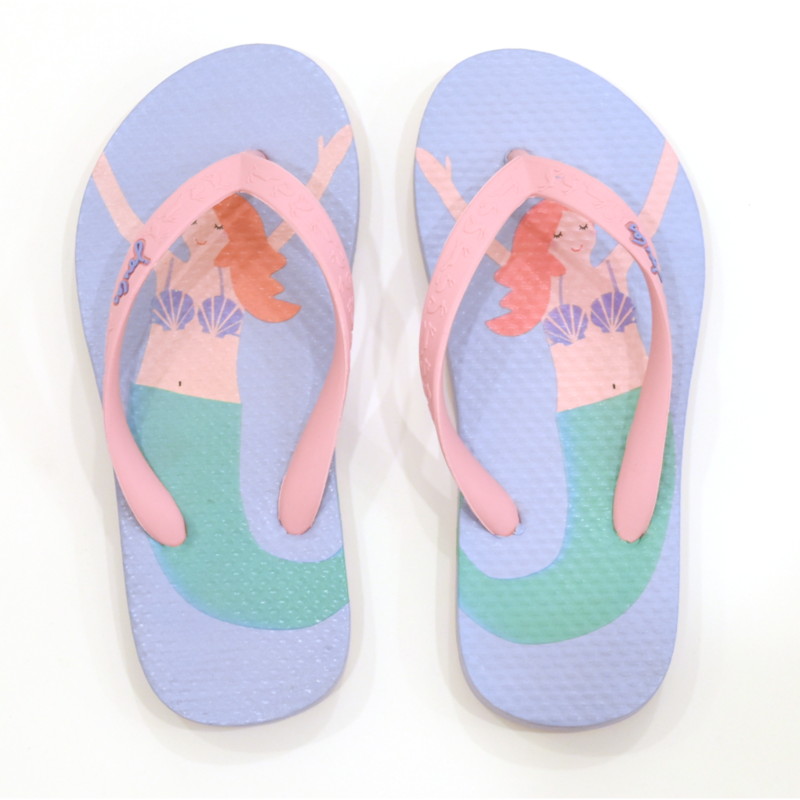 Joules Joules Blue Mermaid Flip Flops