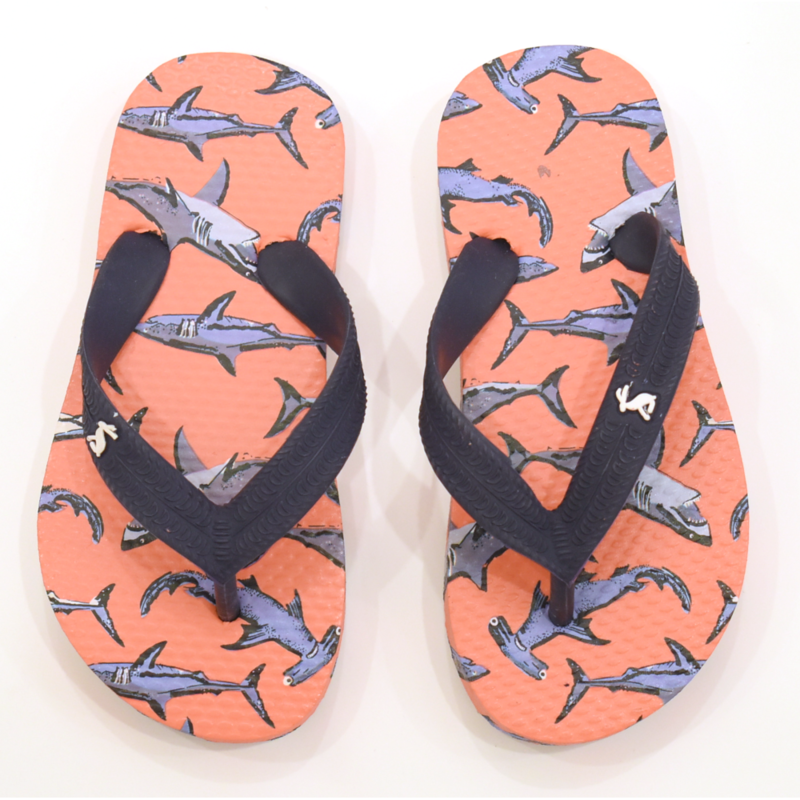 Joules Joules Orange Shark Flip Flops