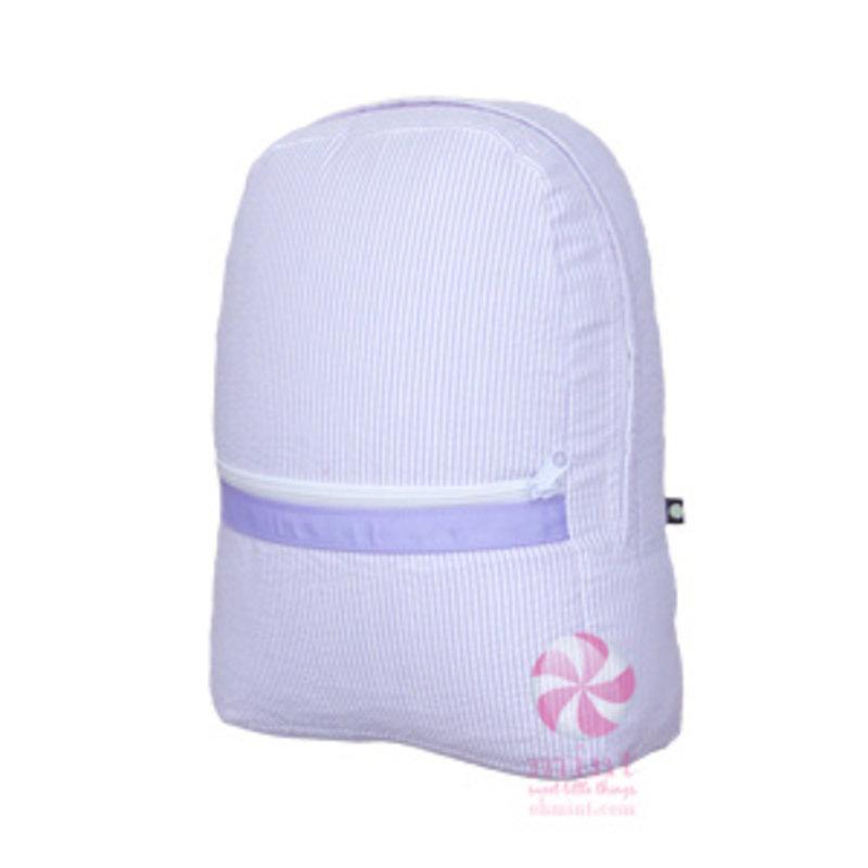 Mint Mint Lilac Seersucker Medium Backpack