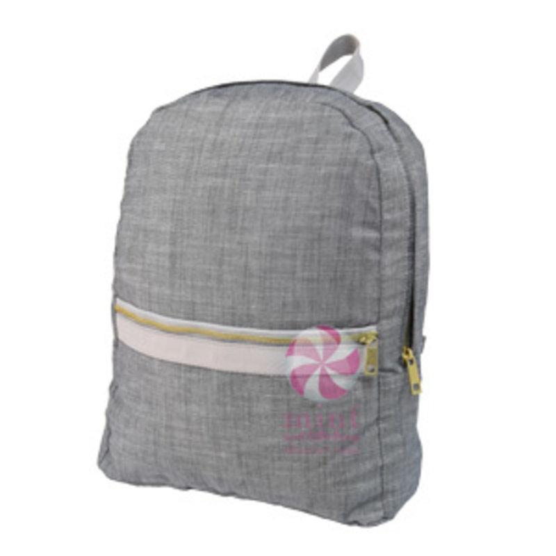 Mint Mint Grey Chambray Medium Backpack