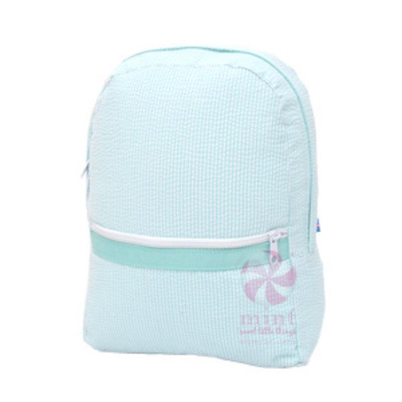 Mint Mint Seersucker Medium Backpack