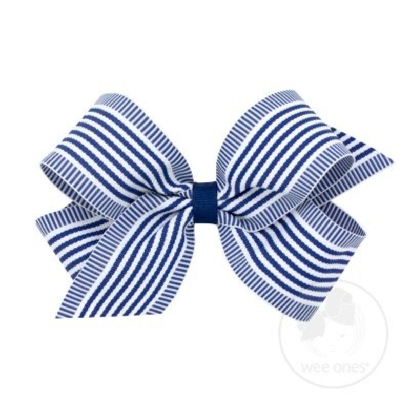 Wee Ones Wee Ones Nautical Stripe Bow