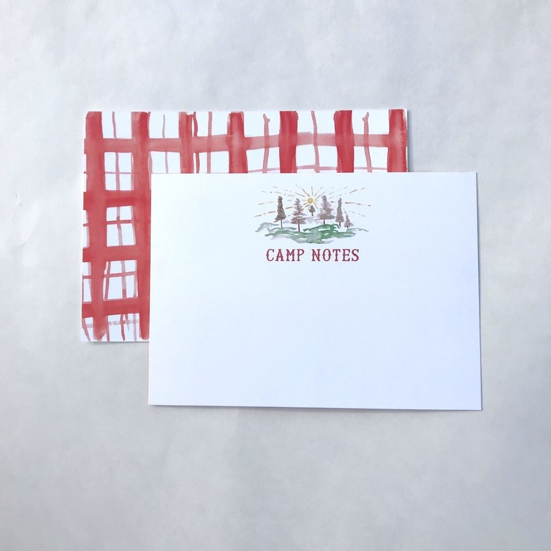 """Over The Moon Over The Moon 5"""" x 7"""" Camp Notes (set of 6)"""