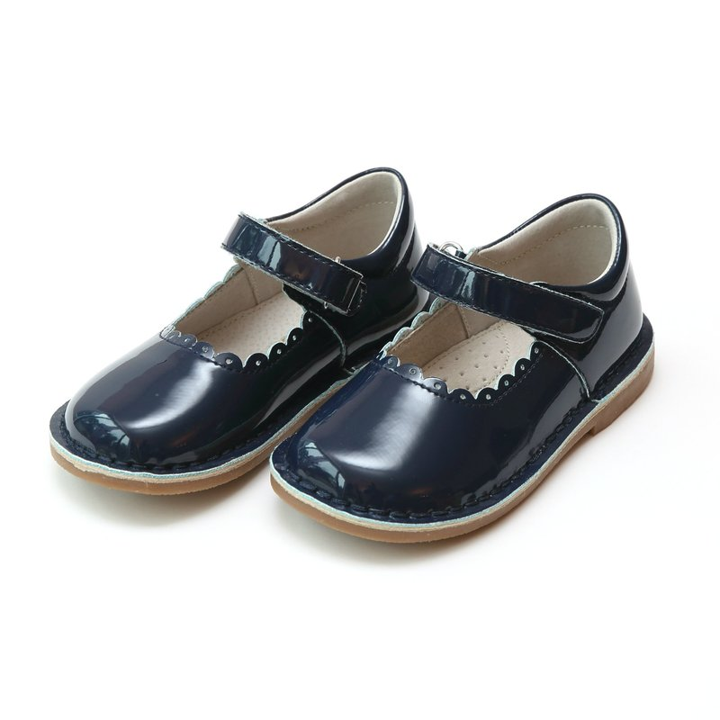 L'Amour L'Amour Caitlin Scalloped Mary Jane Patent NAVY