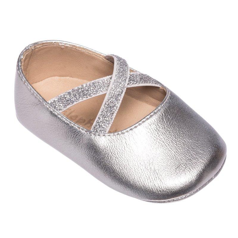 Elephantito Elephantito Crossed Ballerina- Baby- Silver