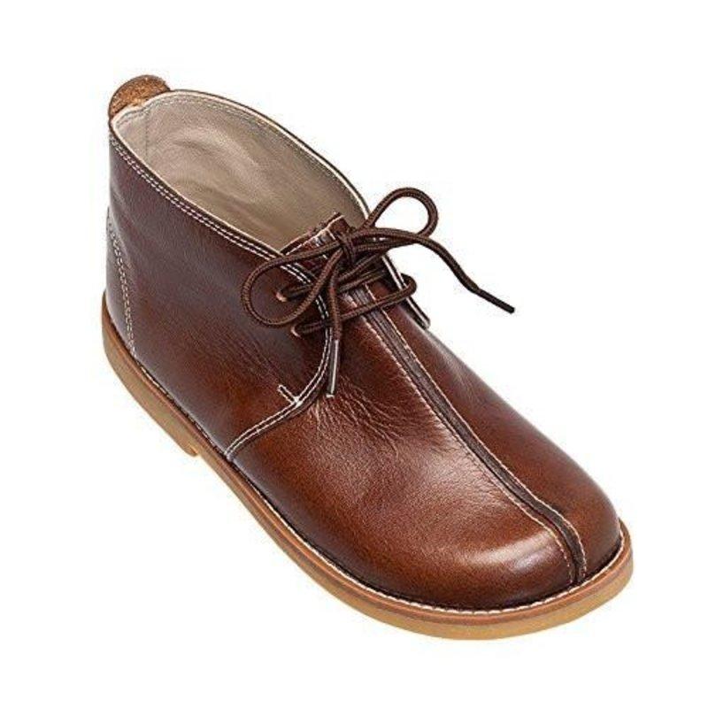 Elephantito Elephantito Vintage Bootie- Brown Leather