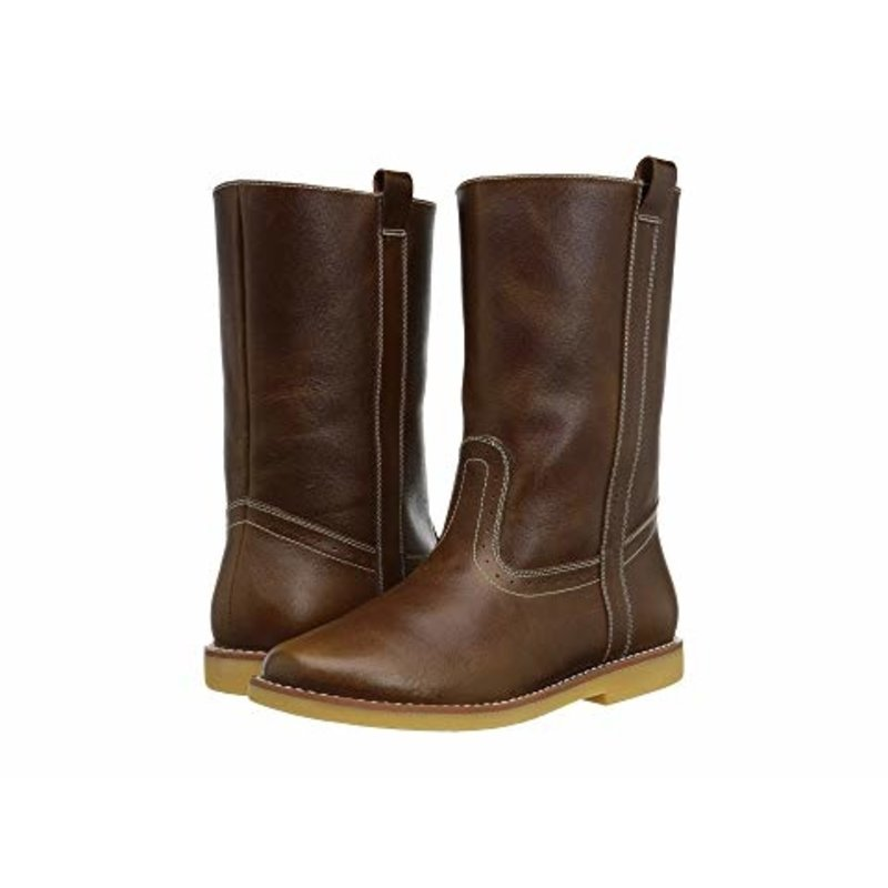 Elephantito Elephantito Western Boot- Brown Leather