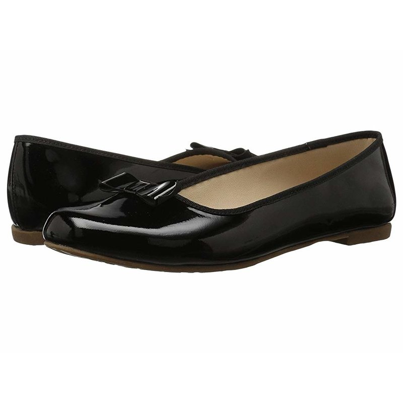 Elephantito Elephantito Camille Flats- Black Patent Leather