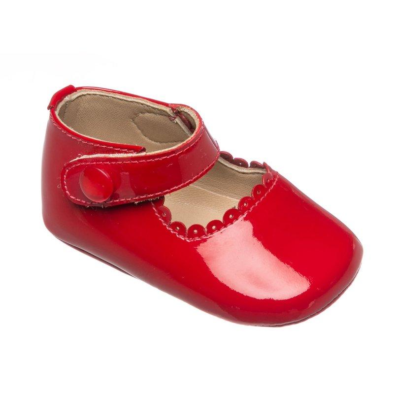 Elephantito Elephantito Baby Mary Janes- Red Patent Leather