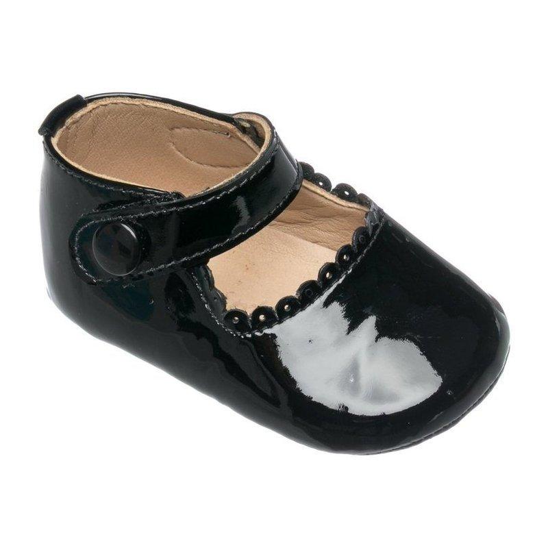 Elephantito Elephantito Baby Mary Janes- Black Patent Leather