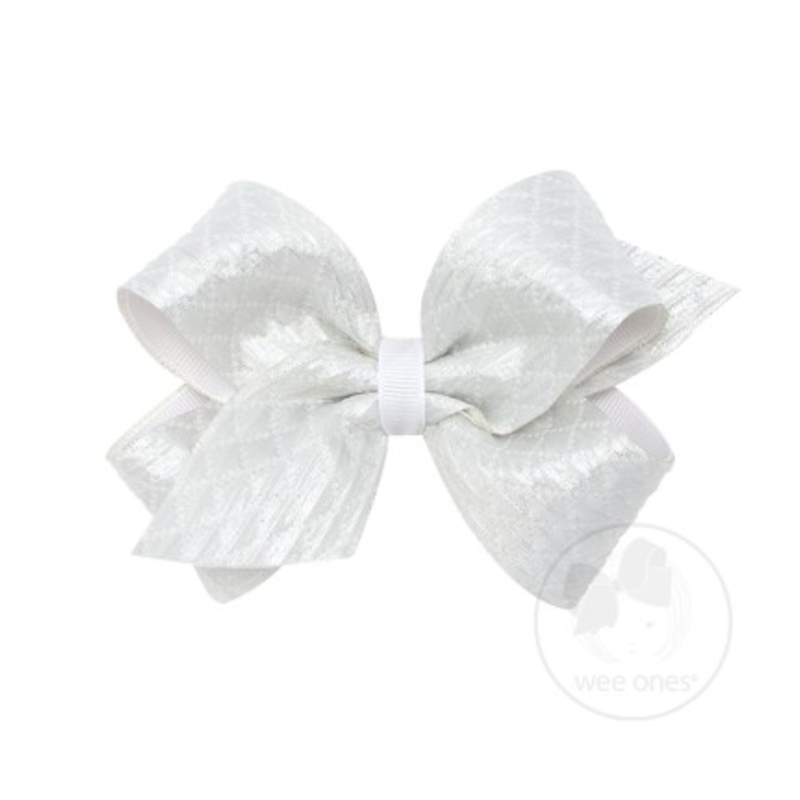 Wee Ones Bows Wee Ones Textured Jacquard Bow