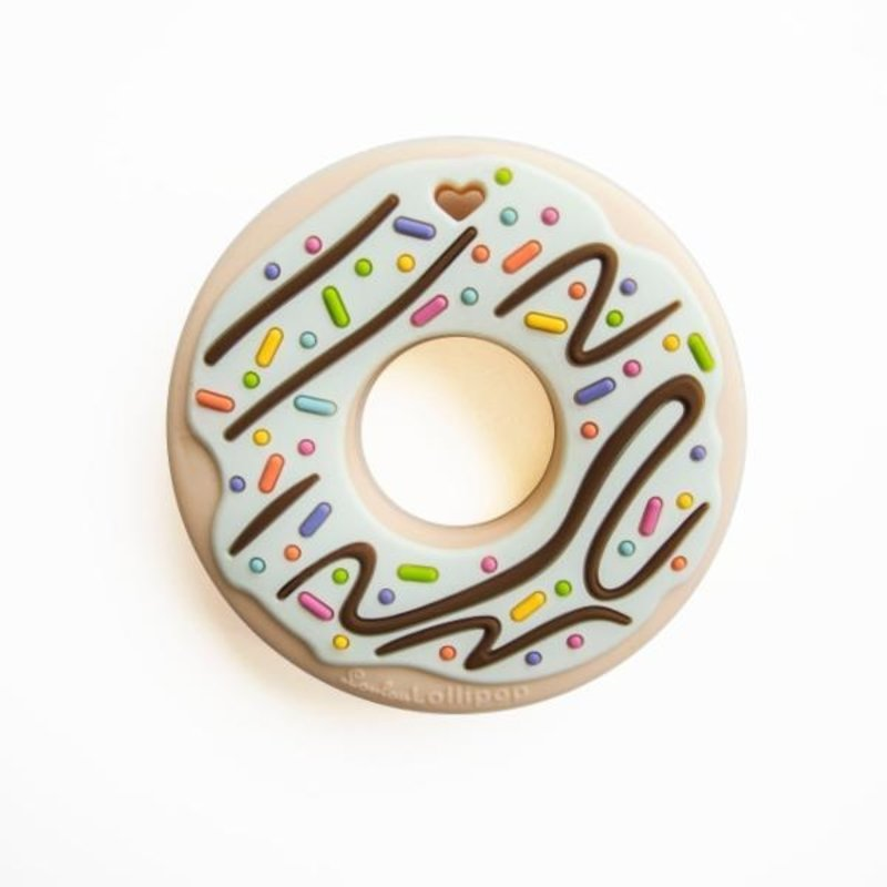 Loulou Lollipop Loulou Lollipop Single Silicone Teether- Donut