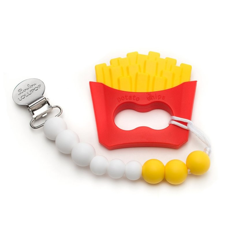 Loulou Lollipop Loulou Lollipop Silicone Teether Set- Fries