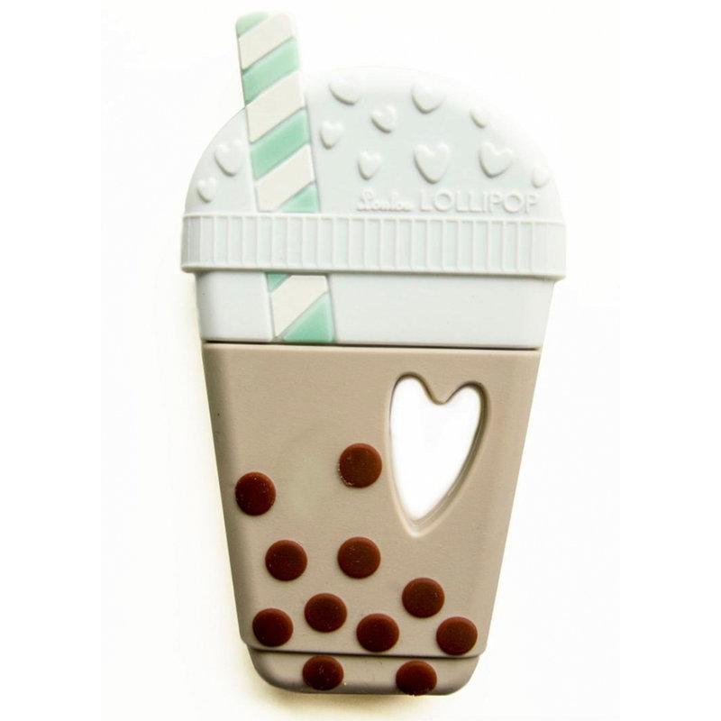 Loulou Lollipop Single Silicone Teether- Bubble Tea