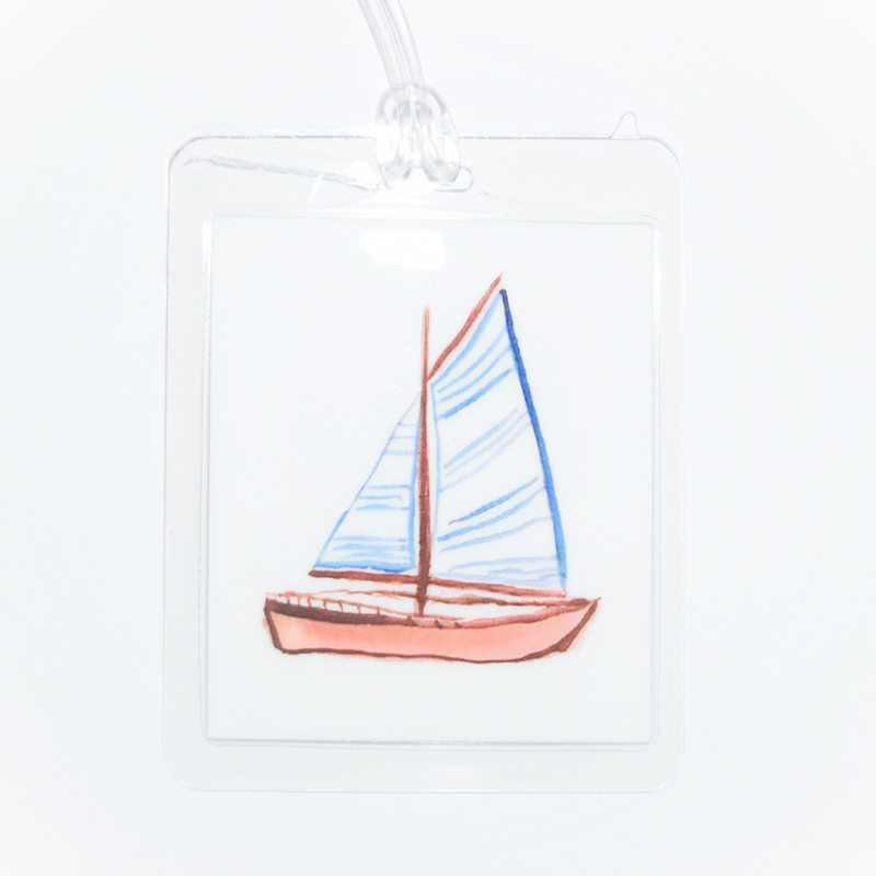 Over The Moon Over The Moon Sailboat Bagtag