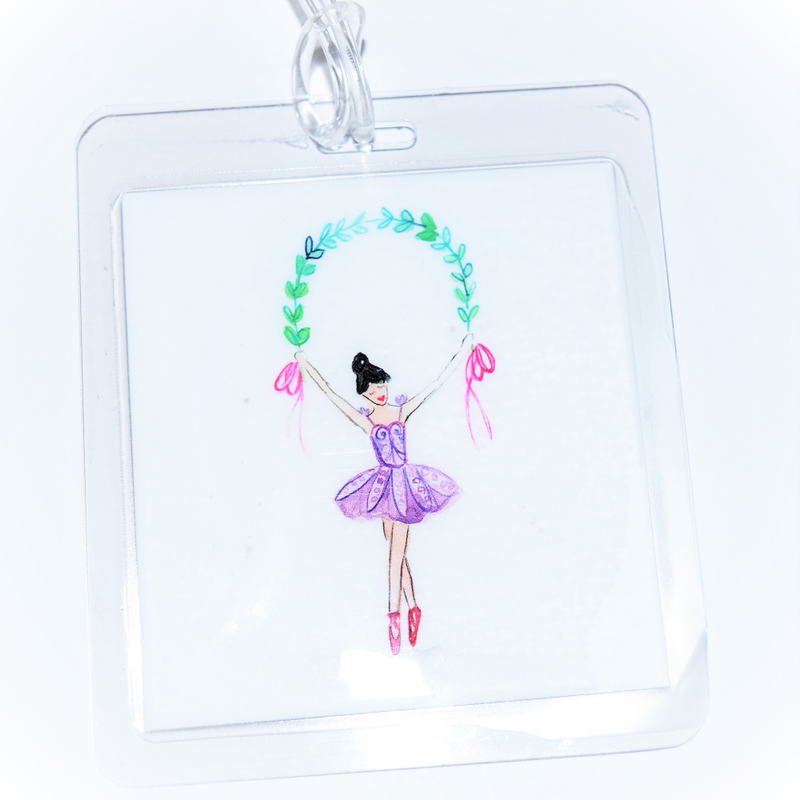 Over The Moon Over The Moon Ballerina Bagtag
