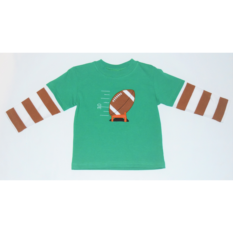 Luigi Luigi Boy L/S Football Tee w/ Striped Sleeves