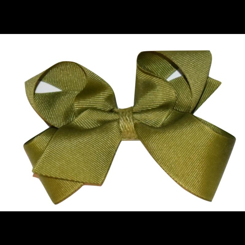 Wee Ones Bows Wee Ones Solid Grosgrain Bow w/ Jute Wrap