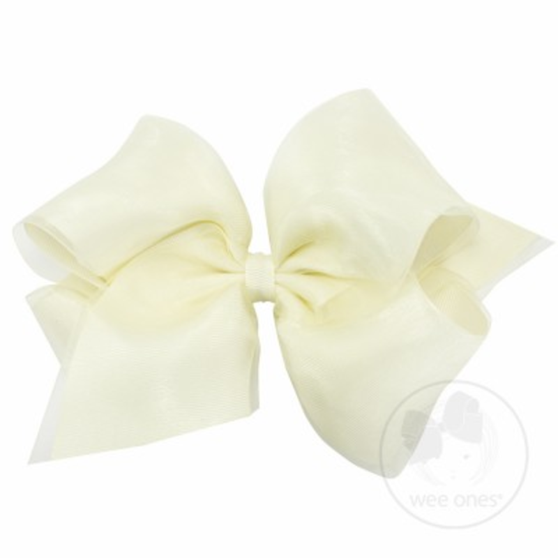 Wee Ones Bows Wee Ones Organza Overlay Bow