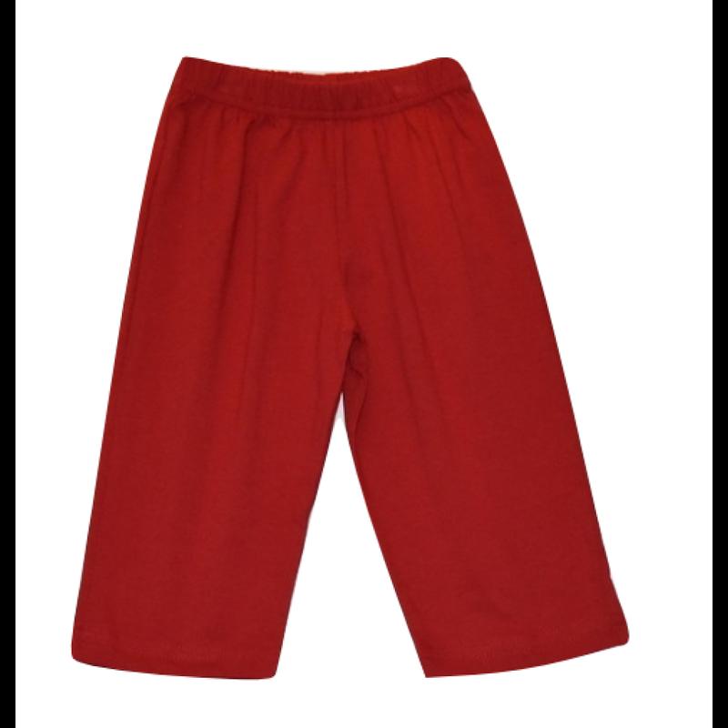 Luigi Luigi Jersey Straight Pants - Deep Red