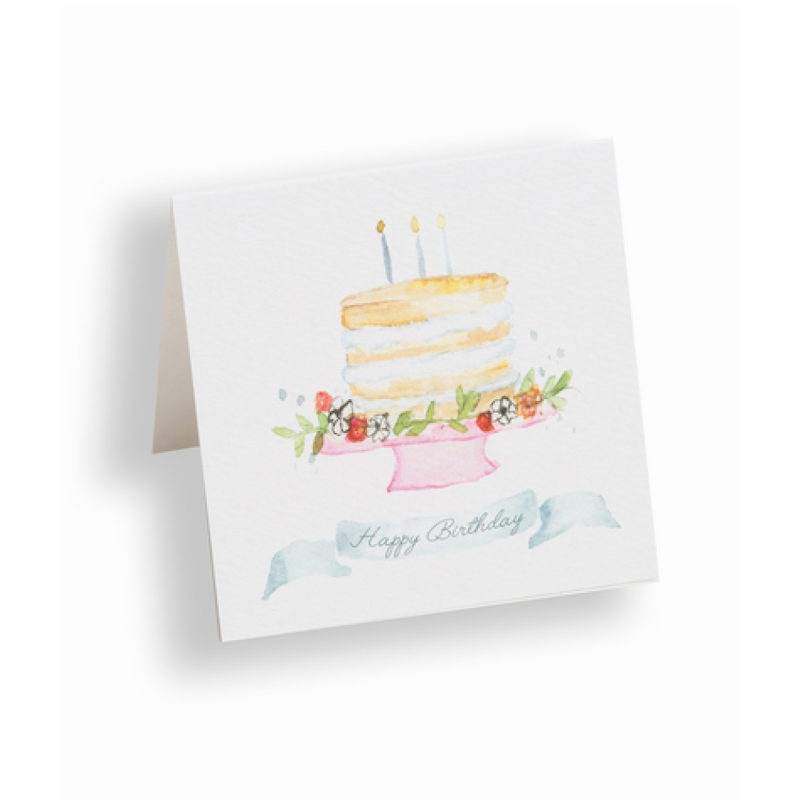 Over the Moon Happy Birthday Cake Enclosure Card