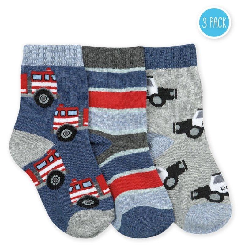Jefferies Socks Emergency Vehicles 3pk