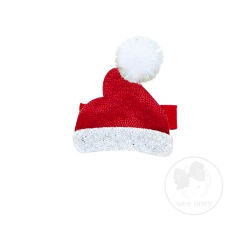 Wee Ones Wee Ones  Santa Hat Holiday Glitter Clip