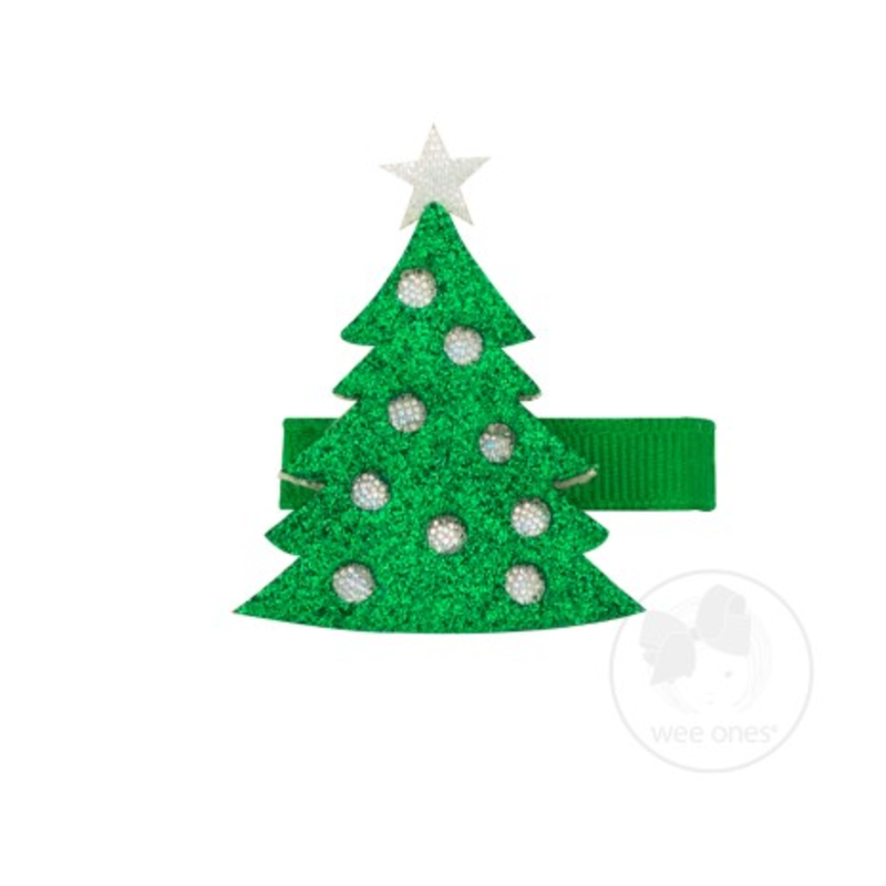Wee Ones Wee Ones Christmas Tree Holiday Glitter Clip
